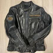 Harley-davidson 115th Anniversary Leather Jacket S Size Mens Black Used