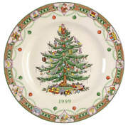 New 1999 Spode England Annual Collector Plate Christmas Tree In Original Box