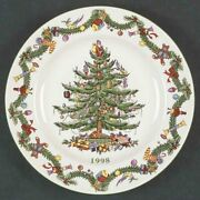 New 1998 Spode England Annual Collector Plate Christmas Tree In Original Box