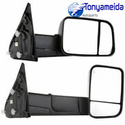 Tow Mirrors Power Heated Led Signal Set For 03-09 Dodge Ram 2500 3500 02-08 1500