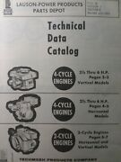 Tecumseh 1964 Horizontal Vertical 2 And 4 Cycle Gas Engine Technical Data Catalog