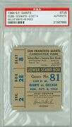 1964 S.f. Giants Vs. Chicago Cubs Baseball Ticket Stub - Willie Mays Hr 453