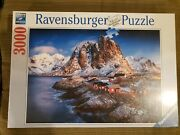 Factory Sealed 3000 Piece Ravensburger Puzzle Hamnoy Rare Collectable