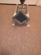 3/8 In Cut Potato French Fry Cutter Cast Iron + Stainless Steel Commercial Works