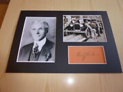 Henry Ford Mounted Photographs And Preprint Signed Autograph Card
