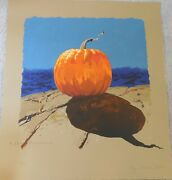 Jamie Wyeth A Sea Pumpkin Lithograph Hand Signed And Numbered Fantastic