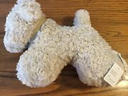 Pottery Barn Neutral/cream Teddy Faux Fur Doodle Dog W/ Bell Pillow Sold Out Nwt
