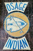 Vintage Osage Indian Motorcycle Club Metal Sign In 3 Pieces