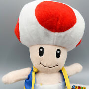 Toad Mushroom Plush 10 Nintendo Super Mario Brothers Red And White Stuffed Toy