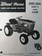 Wheel Horse Raider 12 Lawn Garden Tractor 1-6241 Owner And Parts Manual Hp Gear