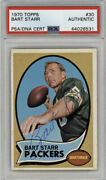 Bart Starr Signed 1970 Topps 30 Green Bay Packers Hof🔥psa/dna Authentic🔥
