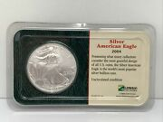 2004 Silver American Eagle 1 Coin 99.93 Silver Uncirculated From Littleton