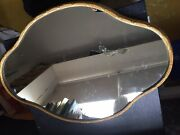 Antique Rare A.risler And Carre Paris Gold Embossed Bronze Mirror Plateau Tray