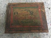 Circa 1880's Map Of The United States Wood Puzzle In Box-milton Bradley