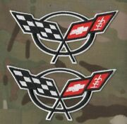 Corvette Racing Vette Performance Parts C-5 4.3 Iron-on Embroidery Patch X 2