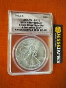 2011 S Silver Eagle Anacs Sp70 First Strike From 25th Anniversary Set Label