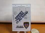 Nypd New York Police Courtesy Court Summon Serialized 177 Challenge Coin 549f