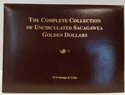 Pcs Complete Collection Of Uncirculated Sacagawea Golden Dollars And Stamps Mg