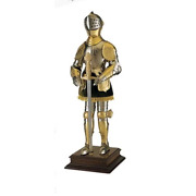 Miniature 16th Century Spanish Suit Of Armor With Sword Gold By Marto Of Toled