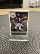 Limited Autographed Hank Aaron Front Row Card 516 Of 5000 In Mint Condition