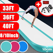 33/36/40ft Inflatable Air Floor Home Gymnastics Tumbling Track Mat Gym+ Pump Us