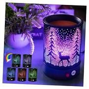 Fragrance Wax Melts Warmer With7 Colors Lighting Oil Lamp Scented Wax Black