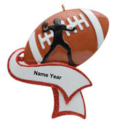 Football Boy Player Athlete Sports Holiday Personalized Christmas Tree Ornaments