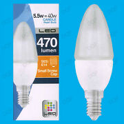 25x 5.5w Led Ultra Low Energy, Instant On, Pearl Candle Light Bulb, Ses E14 Lamp