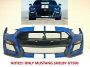 2020-2021 Ford Mustang Shelby Gt500 Front Bumper Need Paint 12