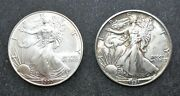 1991 And 2000 American Eagle 1 Silver Real U.s. Honest Coins W/ Free Shipping