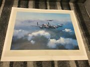 Lancaster By Robert Taylor Hand Signed By Leonard Cheshire Ww2 Bomber