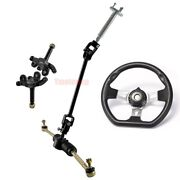 Go Kart Front Steering Wheel Hubs Assembly Tie Rod Shaft Gear Rack Pinion Quad
