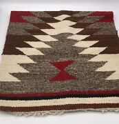 Navajo Fringed Gallup Throw Rug 35 1/2 Long X 18 Wide