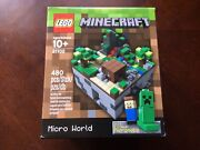 New Lego 21102 Minecraft Micro World Steve Creeper Micromobs Cuusoo 003 480pc
