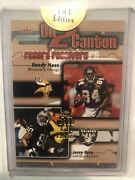 2002 Fleer Throwbacks On 2 Canton 24k Gold 1 Of 1 Edition Randy Moss/jerry Rice
