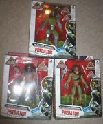 Exclusive Predator Lot Of 3 Action Figures, 7 Tall- Jungle, City, And Berserker
