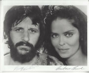 Beatles Ringo Starr And Barbara Bach Autographed 8x10 Photo Jsa Certified
