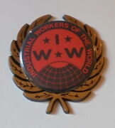 Iww Worker Labor Day Button Pin Worker Party Car Badge Sticker Emblem Union Door