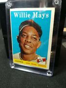 1958 Topps Willie Mayssports Trading Card Andldquorareandrdquo Misprint One Of The Best