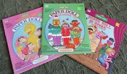 Sesame Street Paper Doll Books, Lot Of 3, Whitman And Golden, Bert And Ernie, Nice