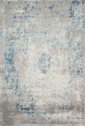 7and039 10 X 10and039 10 Loloi Rug Sienne Dove Ocean 65 Viscose 35 Acrylic Hooked
