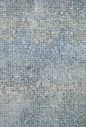 9and039 3 X 13and039 Loloi Rug Tatum Ink Blue 100 Wool Power Loomed