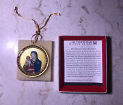 Vintage Metropolitan Museum Of Art Madonna And Child Ornament With Box