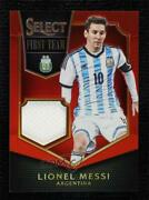 2015-16 Panini Select First Team Swatches Red Prizm /49 Lionel Messi Ft-lm