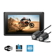 3.0'' Wifi Fhd Dual 1080p Motorcycle Cameras Dash Cam Front And Rear View Dvr Gps