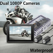 Motorcycle 3.0'' Wifi Real Fhd Dual 1080p Cameras Dash Cam Front And Rear View