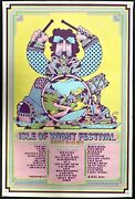 Isle Of Wight First Printing Concert Music Festival Poster Final Show Very Rare