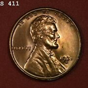 1931-s Lincoln Wheat Cent Gem Bu Red Free S/h After 1st Item