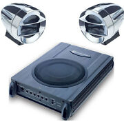 2 Speakers And Powered Subwoofer Upgrade System For Hot Rods Muscle And Vintage Cars