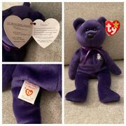 Rare 1st Edition 1997 Ty Princess Diana Beanie Baby, Made In China, P.e Pellets